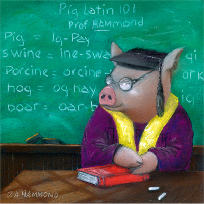 Professor of Pig Latin